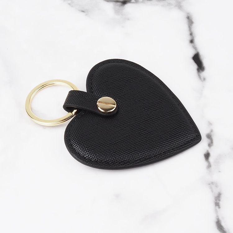 100% Genuine Leather Promotion Gift Custom Heart Shaped Keys Holder Keychain Keyring