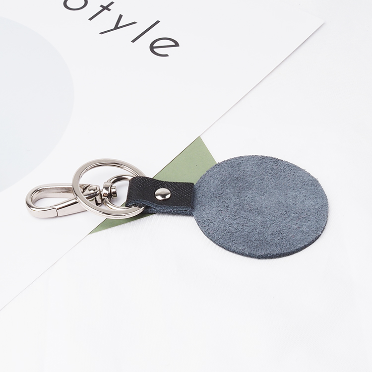 genuine leather key ring custom logo car keychain