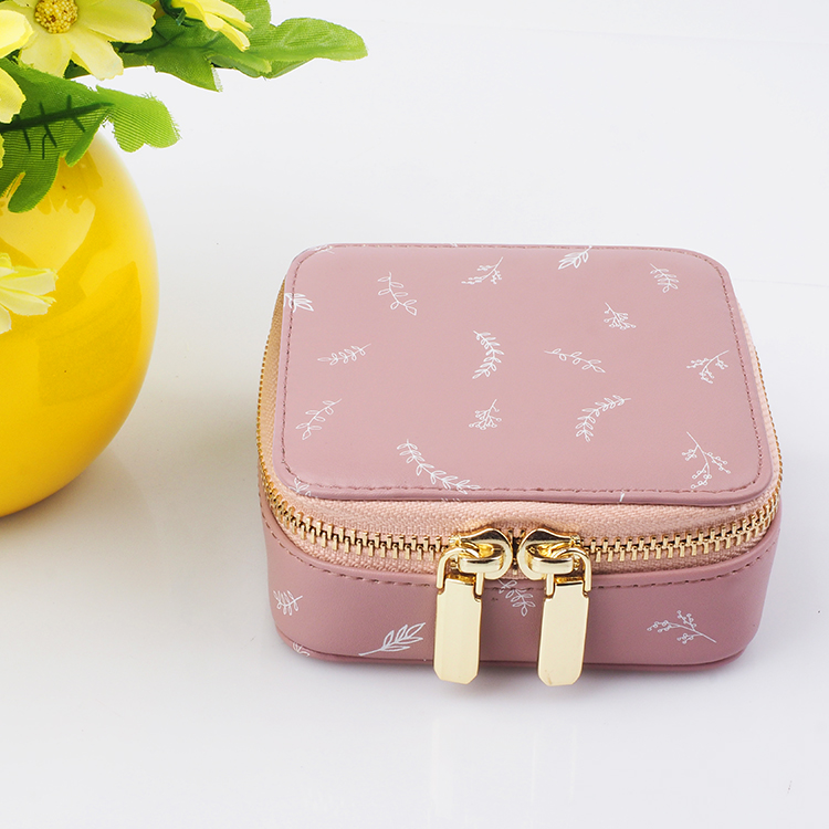 New design Leather Travel Jewelry Organizer Case