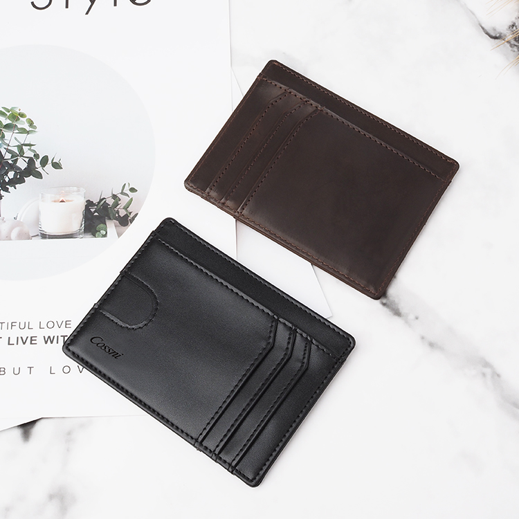 Manufacturer Saffiano Leather Thin Card Holders For Phones