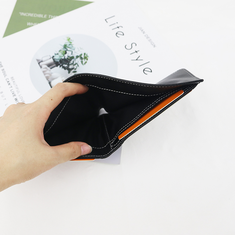 RFID Security Protection men leather Black wallet