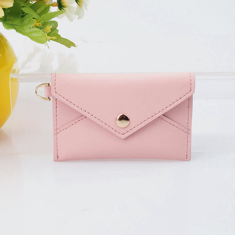 2020 fashion saffiano leather card holder front-flap closure women wallet
