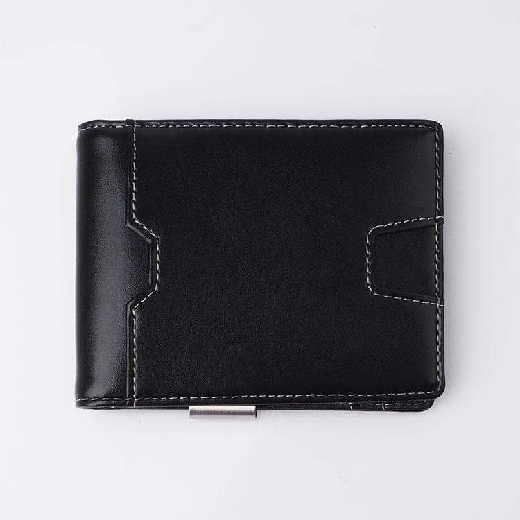 New arrival Thin Minimalist Front Pocket leather wallet men