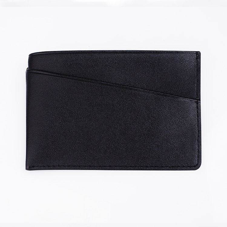simple leather card holder flat pocket leather credit card