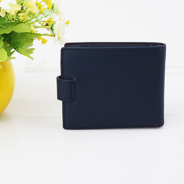 Slim Black Leather Wallets for Men Bifold RFID Blocking Thin Mens Coin Wallet