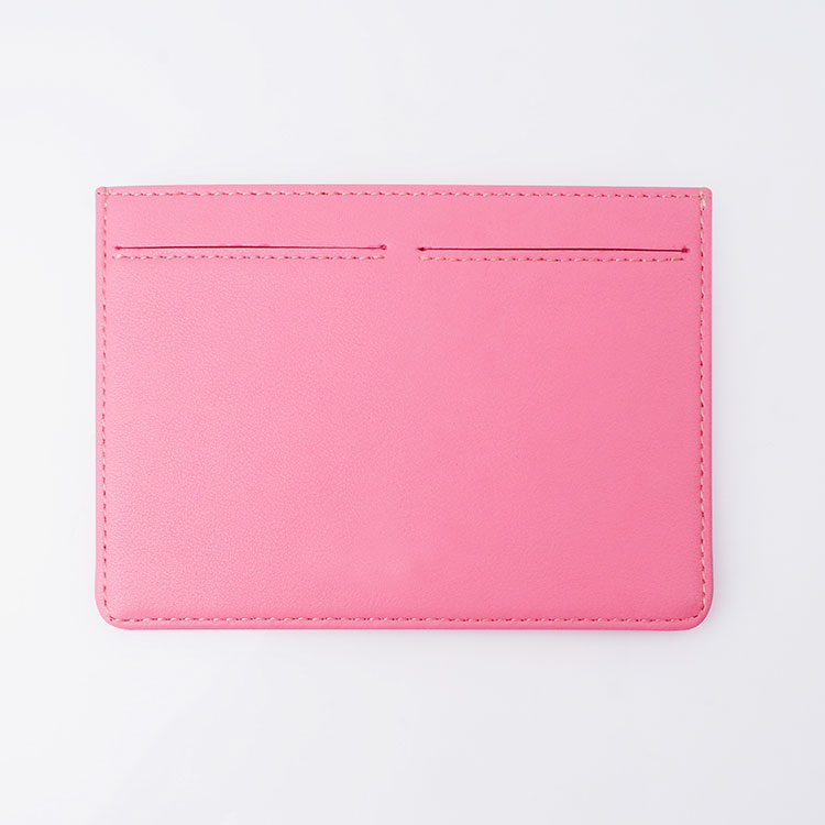 Factory OEM ID Card Holder Custom Leather Pink Credit Card Holde