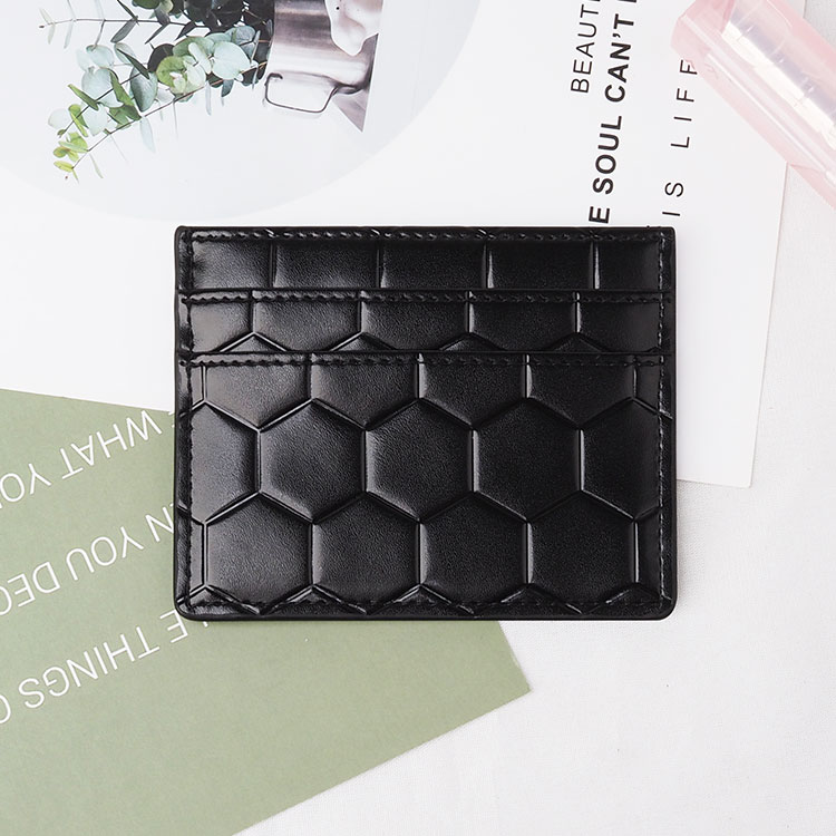 black top Leather Card Holder with five card slots