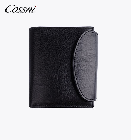 Guangzhou factory high quality trifold wallet for men leather