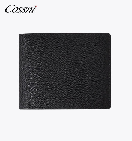Business Black gain Leather Men RFID Wallets