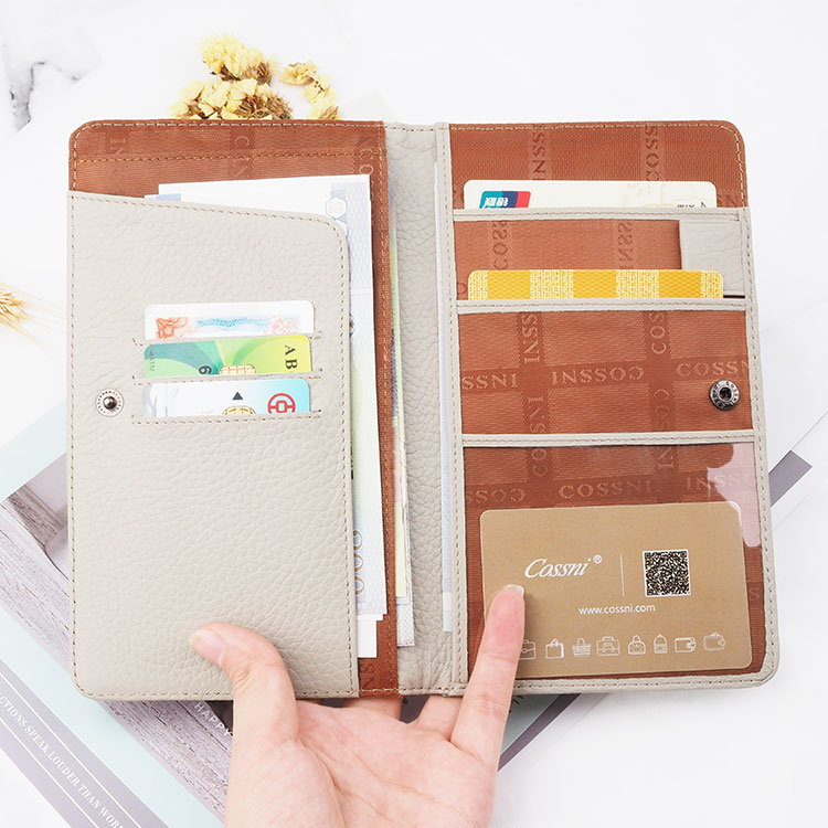 Bussiness Snake skin texture top  Leather Passport Holder