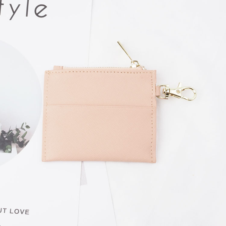 High Quality Designer Saffiano Leather Card Holder with zipper