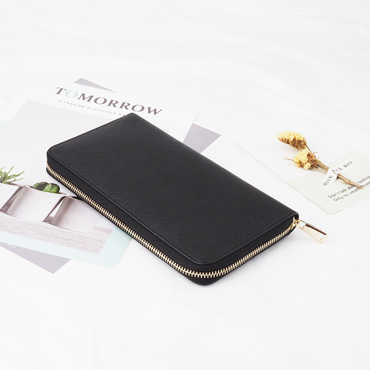 Ladies Travel Purse Zip Wallets Leather Women Long Wallet