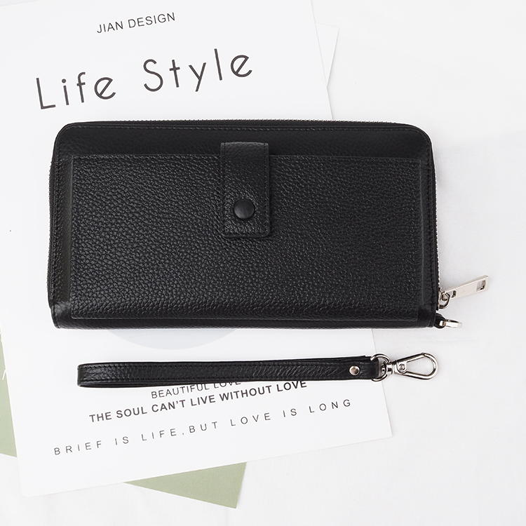 Women Leather Wallet Clutch Long Wallets with Phone Case