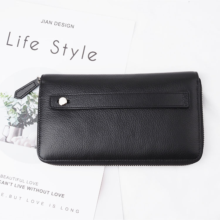 2020 custom top nature genuine leather rfid wallet