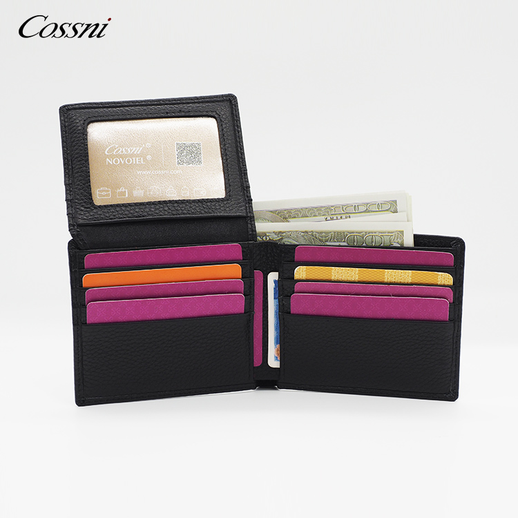 2021 Best Selling Slim Short Card Holder billfold Wallet Leather Men's Wallet