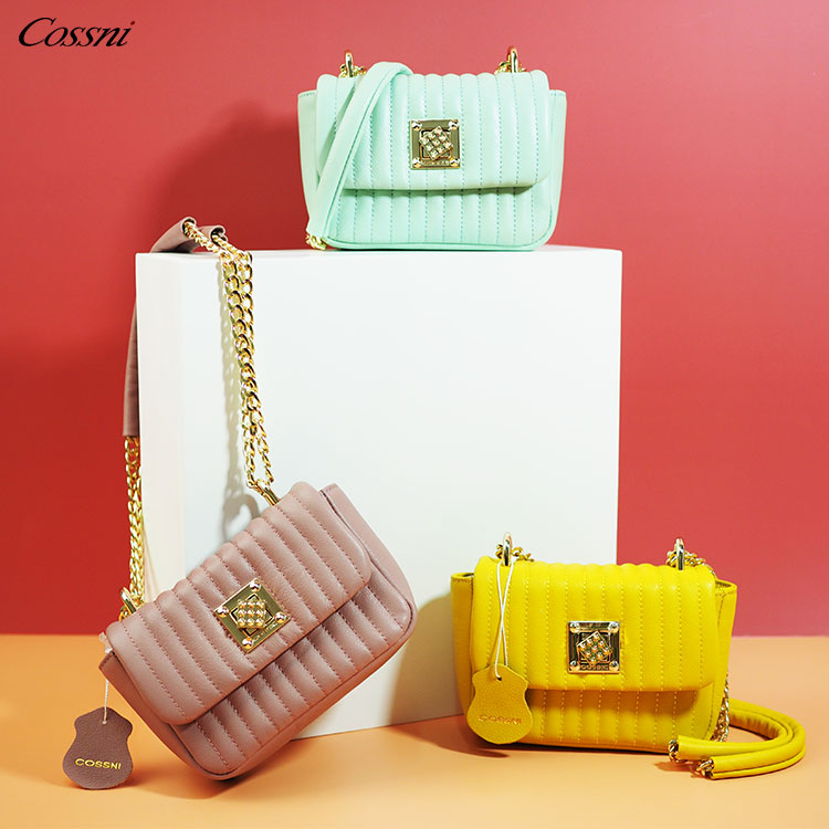 Holiday Colorful Fashion Genuine Leather Ladies Chain Handbag Shoulder Bags