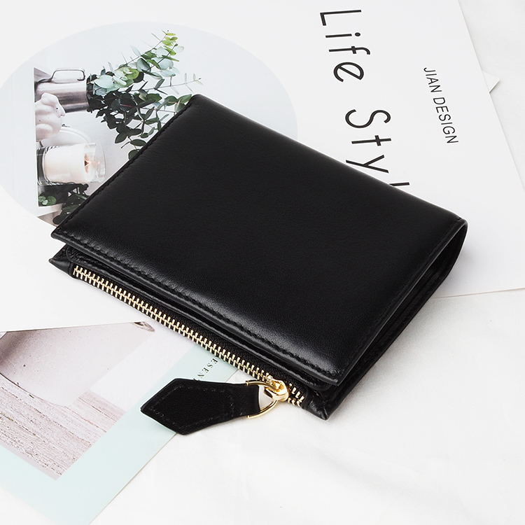 Small Thin Smart Genuine Leather Wallet RFID Card Holder Wallet