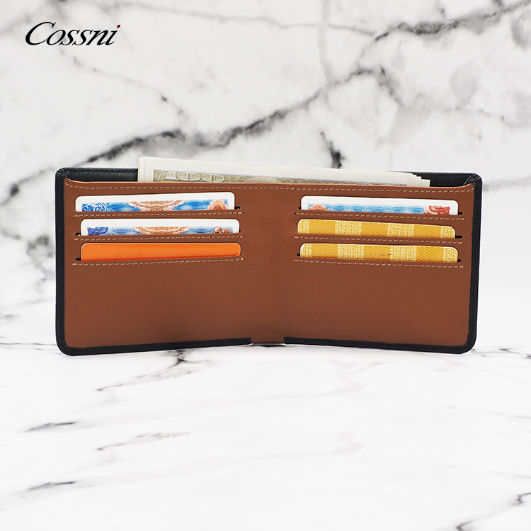 Fashion Design COSSNI Mens Leather Money Card Clip Wallet Match color male style wallet