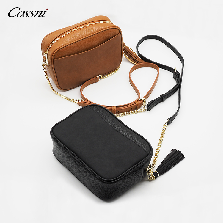 2020 new High quality Genuine leather square mini top handle shoulder handbag for lady crossbag
