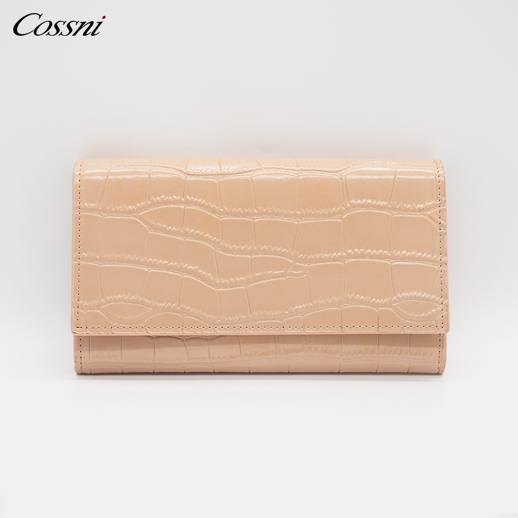 2021 NEW Customize logo Stone pattern leather travel RFID blocking envelope women Pouch purse