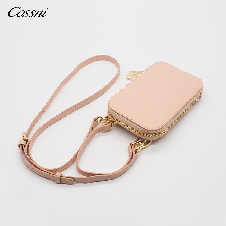 2020 custom color Genuine Leather Small bag Crossbody Mobile Phone Bag For Women