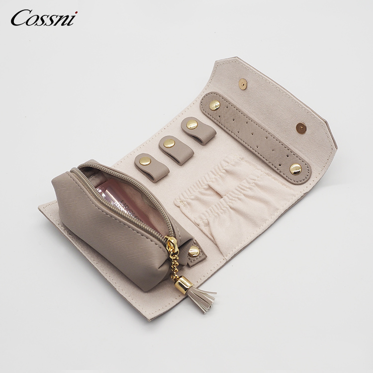 2020 Hot sale design genuine leather travel jewelry case for women