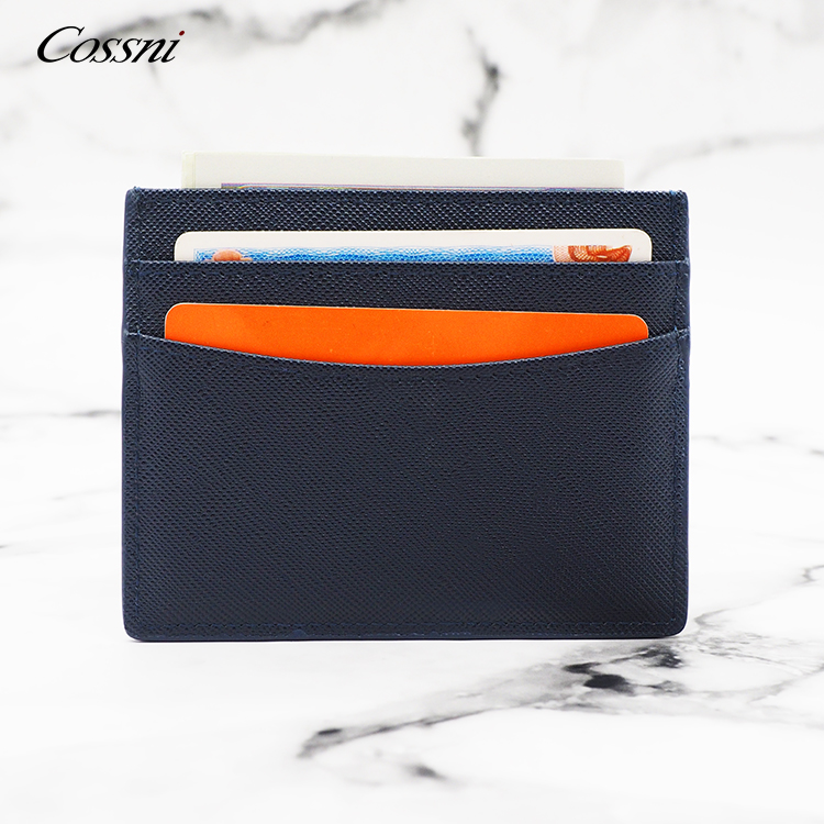 Wholesale top leather card holder ID credit card holder business case