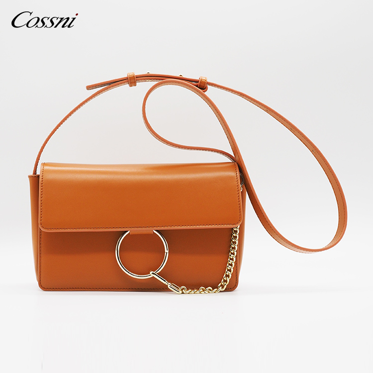 wholesale Holiday Colorful Fashion Genuine Leather Ladies Chain Handbag Shoulder Bags