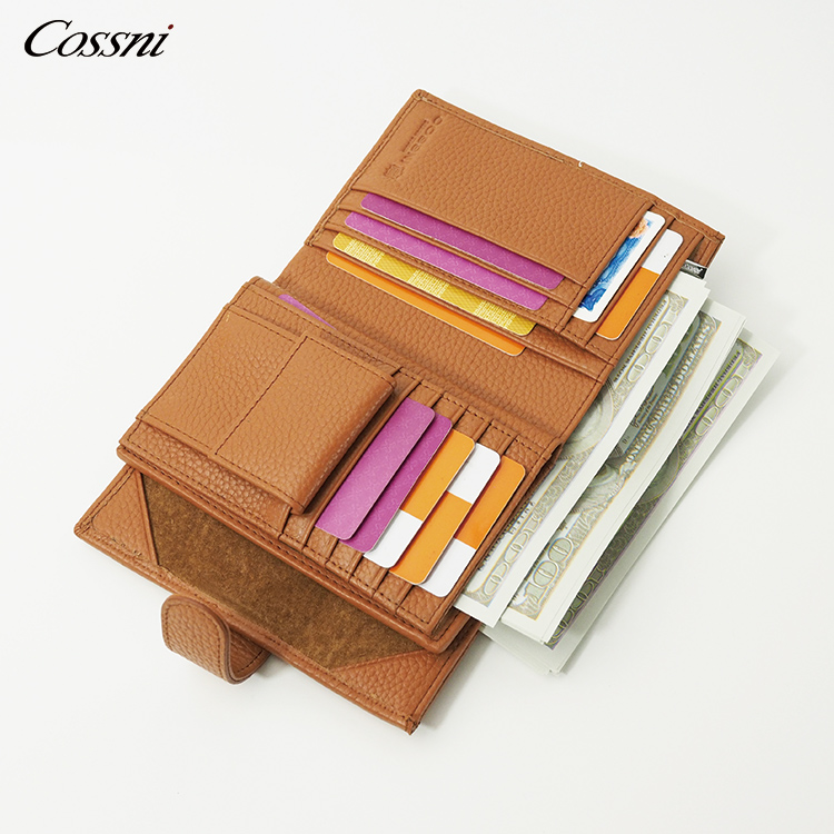 3 Fold Wallet for Men Rfid Wallet with Coin Pocket Custom Short Design Genuine Leather Slim Trifold Wallet